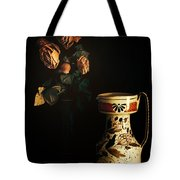 Wilted Roses With Italian Vase Tote Bag