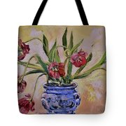 Wilting Tulips Tote Bag