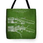 Winchester Firearm Patent Drawing From 1877 - Green Tote Bag