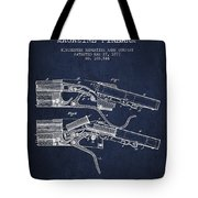 Winchester Firearm Patent Drawing From 1877 - Navy Blue Tote Bag