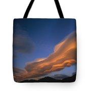 Wind Cloud Over Ben Ohau Range Tote Bag