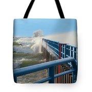Wind-driven Lake Tote Bag
