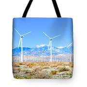Wind Farm Palm Springs Tote Bag