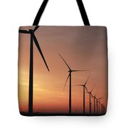 Wind Farm Sunrise Tote Bag