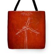 Wind Generator Break Mechanism Patent From 1990 - Red Tote Bag