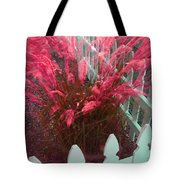 Wind In The Grass - Red Tote Bag