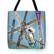 Wind Instruments Tote Bag