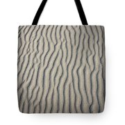 Wind Makes Patterns On The Beach Tote Bag