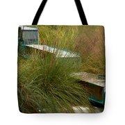 Wind Mark Beach Fountain Tote Bag