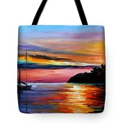 Wind Of Hope - Palette Knife Oil Painting On Canvas By Leonid Afremov Tote Bag