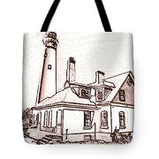 Wind Point Lighthouse Drawing Mode 1 Tote Bag