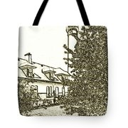 Wind Point Lighthouse Drawing Mode 2 Tote Bag