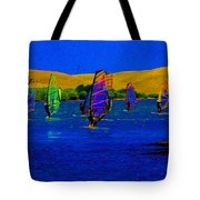 Wind Surf Lessons Tote Bag