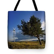 Wind Turbine And Tree On The Plateau Of  Cezallier. Auvergne. France. Tote Bag