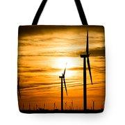 Wind Turbine Farm Picture Indiana Sunrise Tote Bag