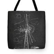 Wind Turbine Patent From 1944 - Dark Tote Bag
