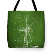 Wind Turbine Patent From 1944 - Green Tote Bag