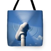 Wind Turbine Rotating Close-up Tote Bag