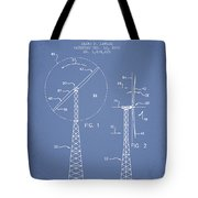 Wind Turbine Rotor Blade Patent From 1995 - Light Blue Tote Bag