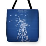 Wind Turbine Speed Control Patent From 1994 - Blueprint Tote Bag