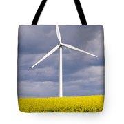 Wind Turbine With Rapeseed Tote Bag