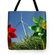 Wind Turbines And Toys Tote Bag