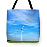 Wind Turbines Farm Tote Bag