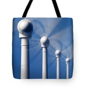 Wind Turbines In Motion From The Front Tote Bag