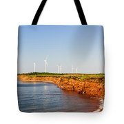 Wind Turbines On Atlantic Coast Tote Bag