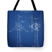 Wind Turbines Patent From 1984 - Blueprint Tote Bag