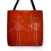 Wind Turbines Patent From 1984 - Red Tote Bag