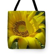 Windblown Sunflower One Tote Bag