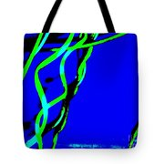 Winding Green And Blue Abstract Tote Bag