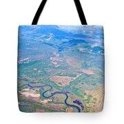 Winding River From The Seaplane In Katmai National Preserve-alaska Tote Bag