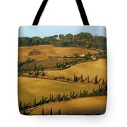 Winding Road And Cypress Trees In Tuscany 1 Tote Bag