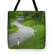 Winding Road In The Woods Tote Bag