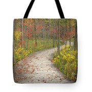 Winding Woods Walk Tote Bag