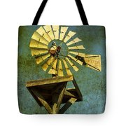 Windmill Abstract Tote Bag