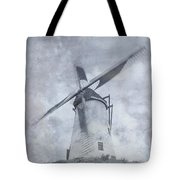 Windmill At Damme In Belgium Countryside Tote Bag