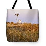 Windmill At Dusk 2011 Tote Bag
