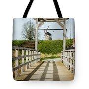 Windmill Bridge Tote Bag