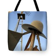 Windmill Canteen And Cowboy Hat 1 Tote Bag