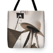 Windmill Canteen And Cowboy Hat 4 Tote Bag