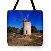 Windmill In El Pilar De La Mola On Formentera Tote Bag