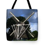 Windmill In Dutch Countryside Tote Bag