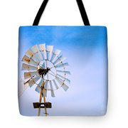 Windmill In Winter Tote Bag