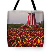 Windmill Of Flowers Tote Bag