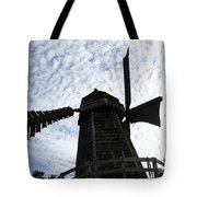 Windmill On A Cloudy Day Tote Bag