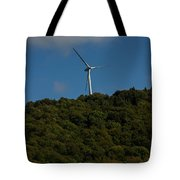 Windmill On A Mountain Tote Bag