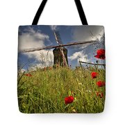 Windmill Poppies  Tote Bag